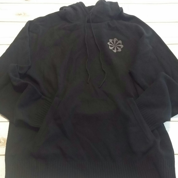 04bb482766d8 NWT Nike Pinwheel Logo Knit Hoodie Black 100% Wool.  M 5a41469da6e3ea3ccd031566